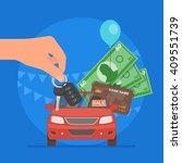 car sale vector illustration.... | Shutterstock .eps vector #409551739