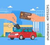 car sale vector illustration.... | Shutterstock .eps vector #409552291