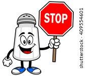salt shaker with a stop sign | Shutterstock .eps vector #409554601