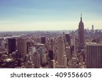 manhattan  new york city with... | Shutterstock . vector #409556605