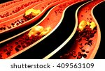 clogged artery with platelets... | Shutterstock . vector #409563109