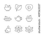 line icons set of alternative... | Shutterstock .eps vector #409563337