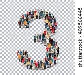 people number alphabet 3d | Shutterstock .eps vector #409566445