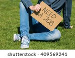young man looking for a job... | Shutterstock . vector #409569241