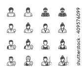 people and sport player icons... | Shutterstock .eps vector #409576099