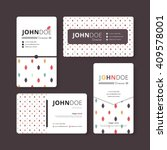 simple business card template.... | Shutterstock .eps vector #409578001