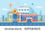 stock vector illustration city... | Shutterstock .eps vector #409584835