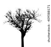 tree silhouette isolated on... | Shutterstock .eps vector #409588171