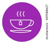 hot tea in cup line icon. | Shutterstock .eps vector #409588627