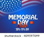 vector illustration sale banner ... | Shutterstock .eps vector #409597099