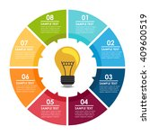 bulb circle info graphic | Shutterstock .eps vector #409600519