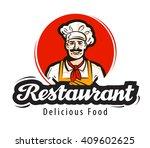 restaurant vector logo. diner ... | Shutterstock .eps vector #409602625