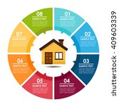 house and circle info graphic.... | Shutterstock .eps vector #409603339