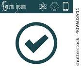 icon of check box  | Shutterstock .eps vector #409603915
