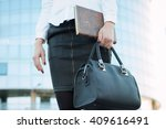 successful businesswoman with...   Shutterstock . vector #409616491