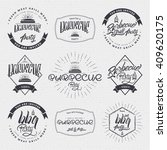 barbecue vector design elements ... | Shutterstock .eps vector #409620175