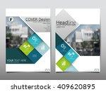 green square annual report...   Shutterstock .eps vector #409620895