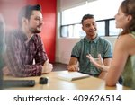 unposed group of creative... | Shutterstock . vector #409626514