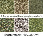 seamless set of camouflage...   Shutterstock .eps vector #409630294