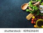 italian healthy spaghetti ... | Shutterstock . vector #409634644