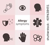 vector illustration   allergy... | Shutterstock .eps vector #409638451