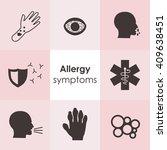 vector illustration   allergy... | Shutterstock .eps vector #409638451