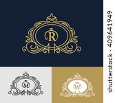 monogram design elements ... | Shutterstock .eps vector #409641949