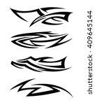 tribal tattoo art | Shutterstock .eps vector #409645144