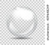 White Transparent Glass Sphere...