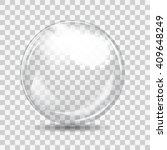 White Transparent Glass Sphere...