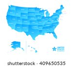 united states of america usa... | Shutterstock .eps vector #409650535