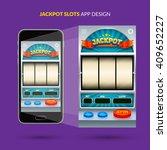 jackpot game ui design. vector...