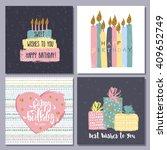happy birthday creative cards... | Shutterstock .eps vector #409652749