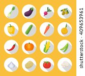 vegetables colored icons flat... | Shutterstock .eps vector #409653961