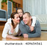 portrait of mother  father and... | Shutterstock . vector #409654561
