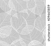 Leaves Seamless Pattern. Vecto...