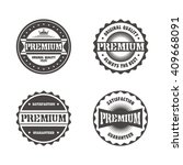 product quality badge label... | Shutterstock .eps vector #409668091