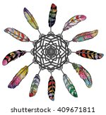 vector dream catcher.... | Shutterstock .eps vector #409671811