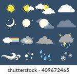 set of weather  meteorology...   Shutterstock .eps vector #409672465