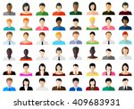 set of avatar color icons flat... | Shutterstock .eps vector #409683931