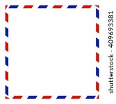 air mail envelope  isolated on... | Shutterstock .eps vector #409693381