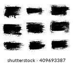 grunge shapes  set  black... | Shutterstock .eps vector #409693387