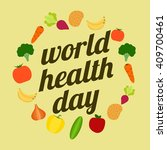 world health day poster template | Shutterstock .eps vector #409700461