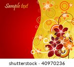 floral background with red and... | Shutterstock .eps vector #40970236