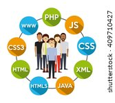 programming language design  | Shutterstock .eps vector #409710427