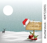 winter christmas background  | Shutterstock .eps vector #409723051