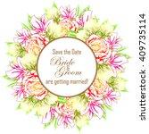 vintage delicate invitation... | Shutterstock . vector #409735114