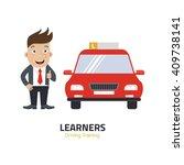 flat design concept of driving...   Shutterstock .eps vector #409738141