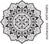vector ethnic mandala  tattoo... | Shutterstock .eps vector #409744891