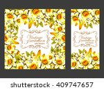 abstract flower background with ... | Shutterstock . vector #409747657
